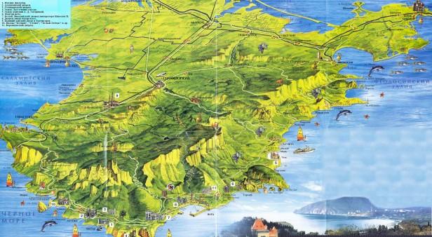 Crimea mapa 3d