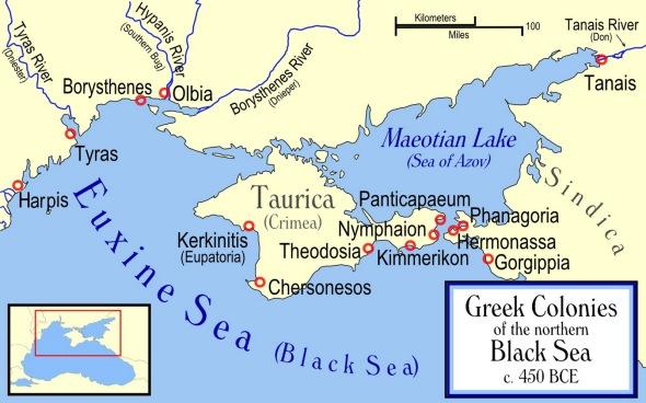 CRIMEA MAPA - Colonias griegas