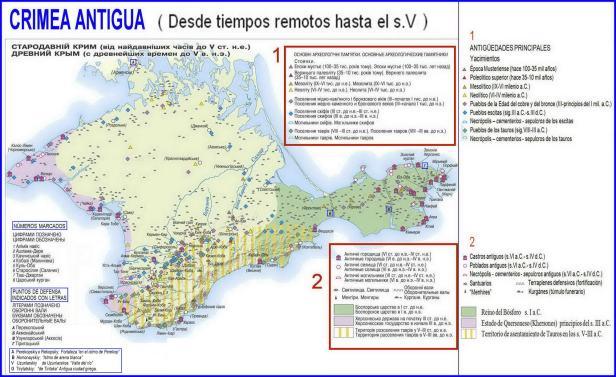 CRIMEA MAPA Crimea antigua