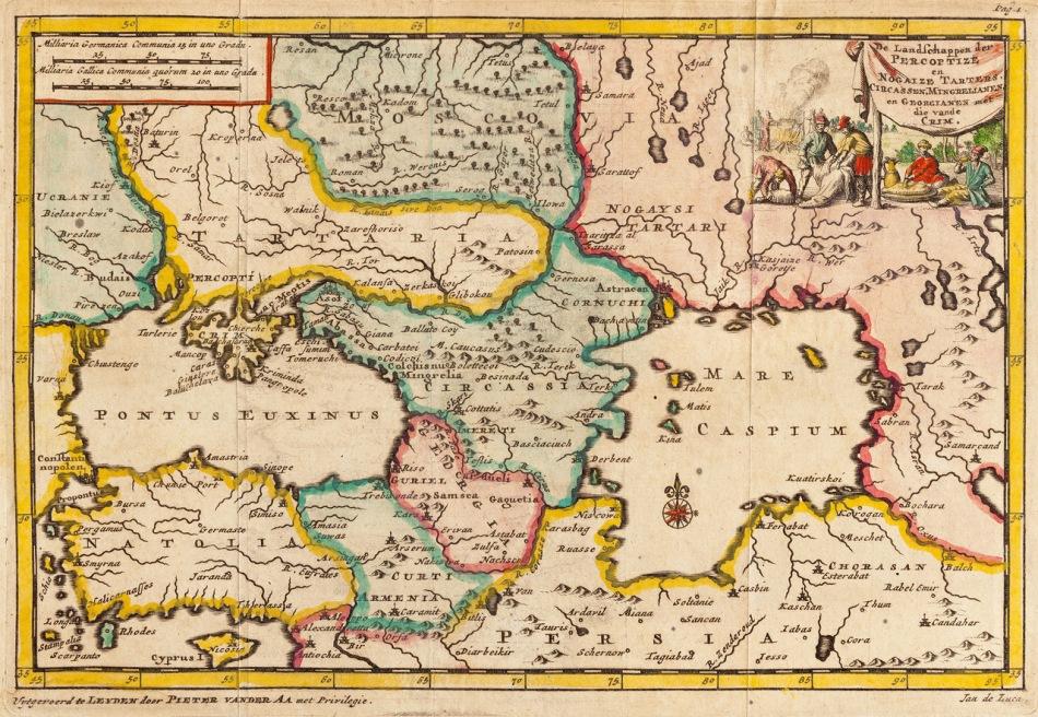 MAPA TARTARIA 1707
