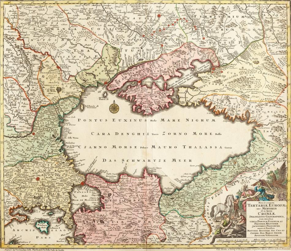 MAPA TARTARIA 1740