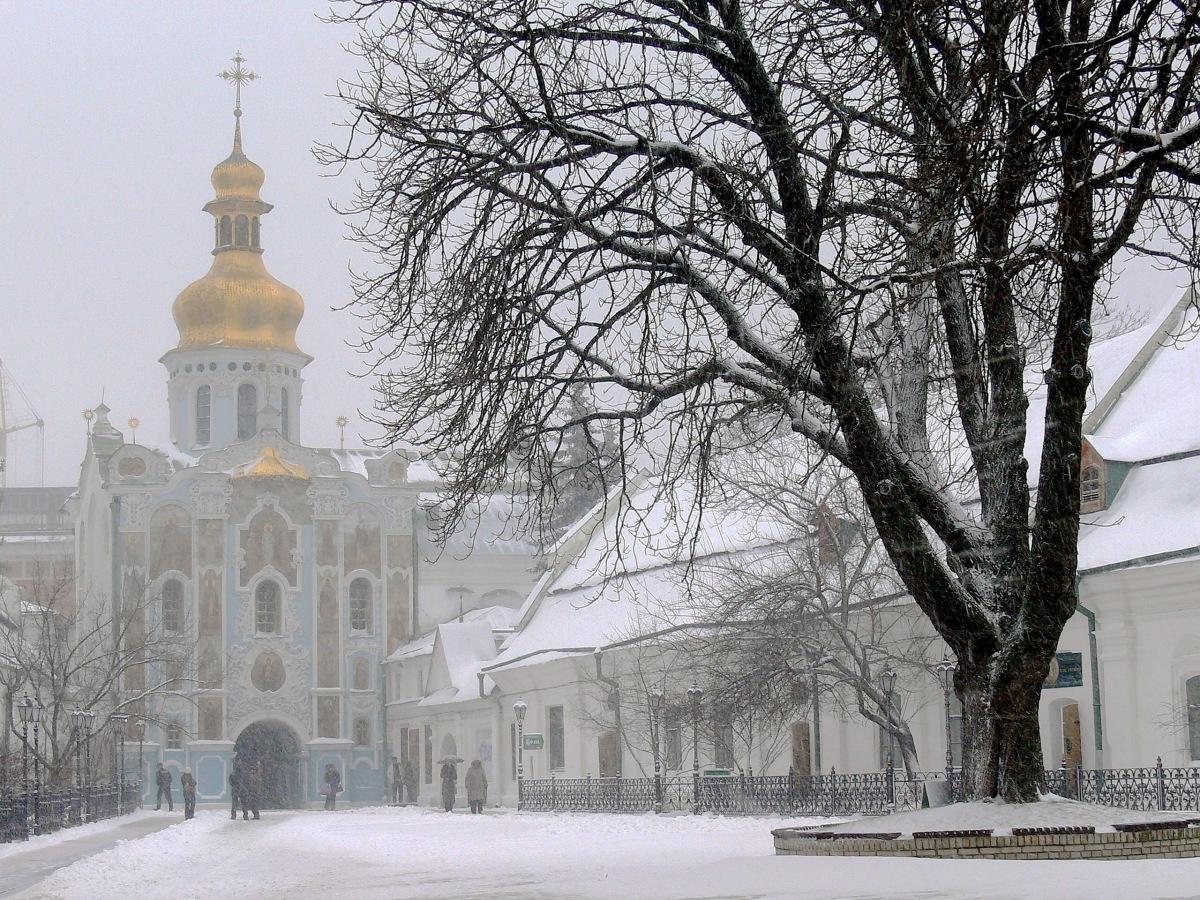 KIEV. El crudo y resbaladizo invierno.