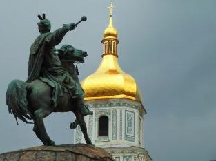 023 - Campanario de Santa Sofía y Bogdan Jmelnytsky