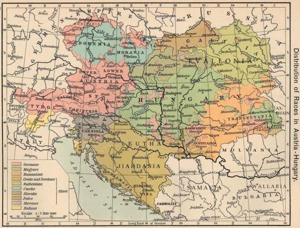 MAPA Ruritania en Austria-Hungria 1911