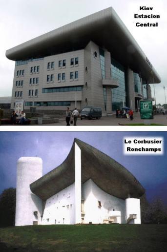 KIEV. Estación Central de Tren, en homenaje a Le Corbusier