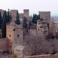 La Alhambra vista desde los jardines del Generalife