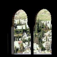 Salón de Embajadores. Vistas del barrio del Albaicín