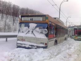 Colapso transporte público