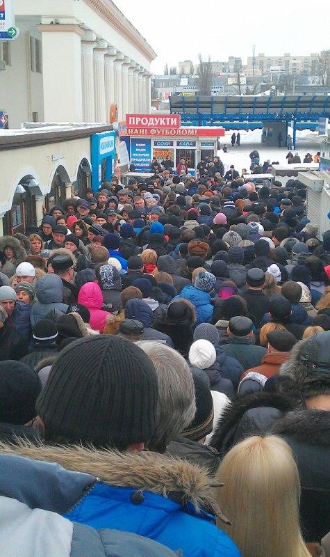 Colas de espera para el Metro