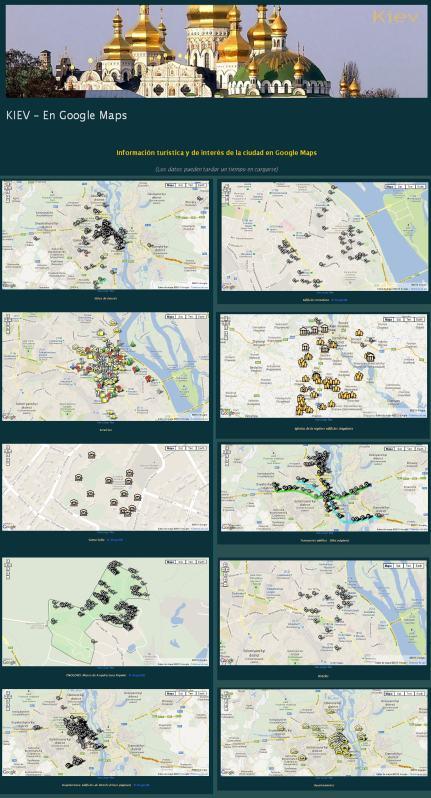 Kiev en Google Maps