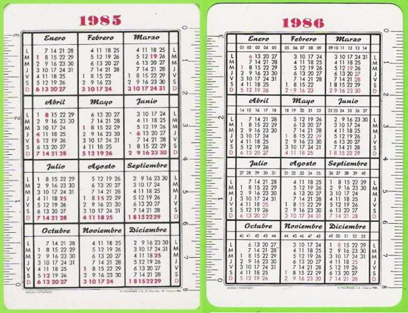 Calendario 1985-86