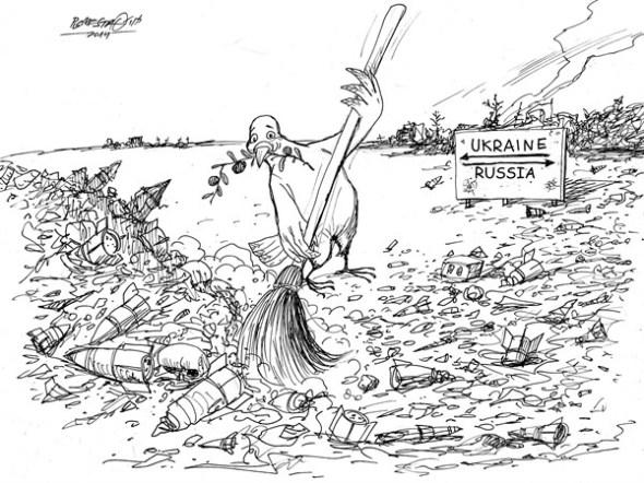 karikatur für tribüne-demilitarisierte zone