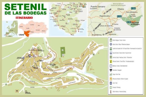PLANO Setenil - Itinerario