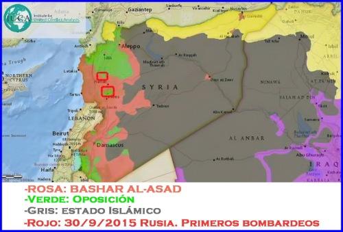 Rusia bombardeo Siria