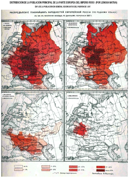 Eslavos del Este en Rusia 1897