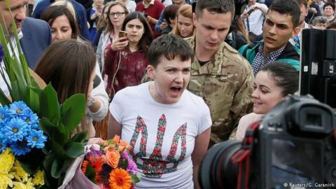Savchenko hoy en Borispil