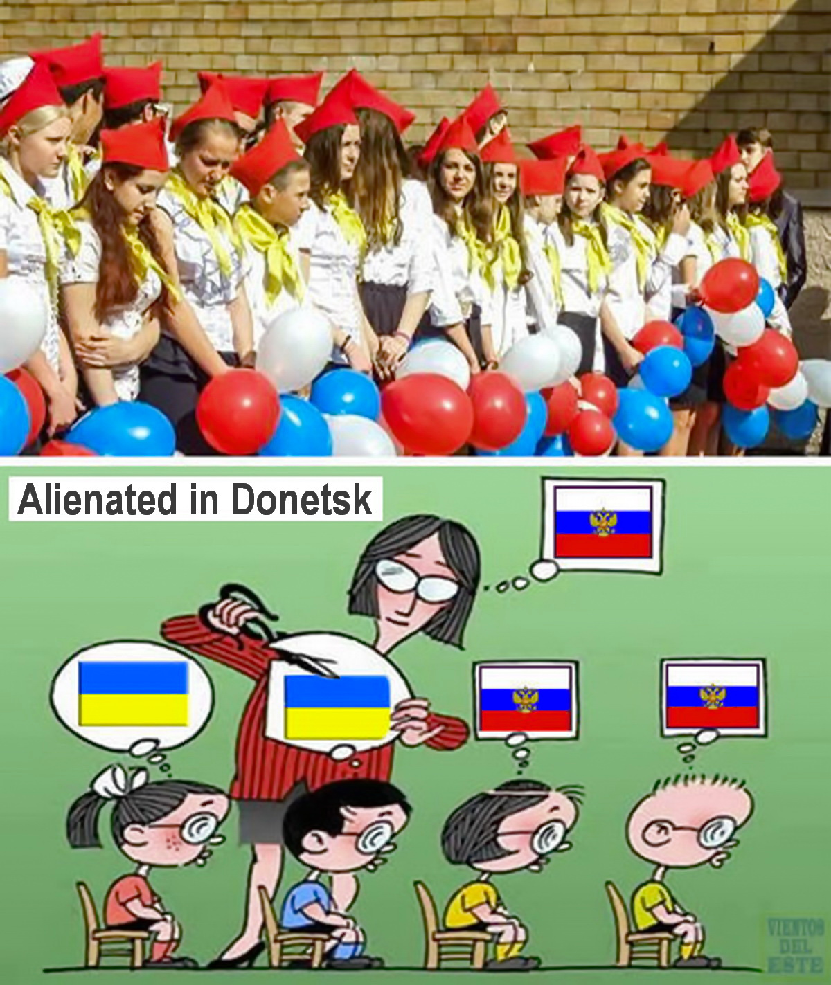 Alienated in Donetsk.