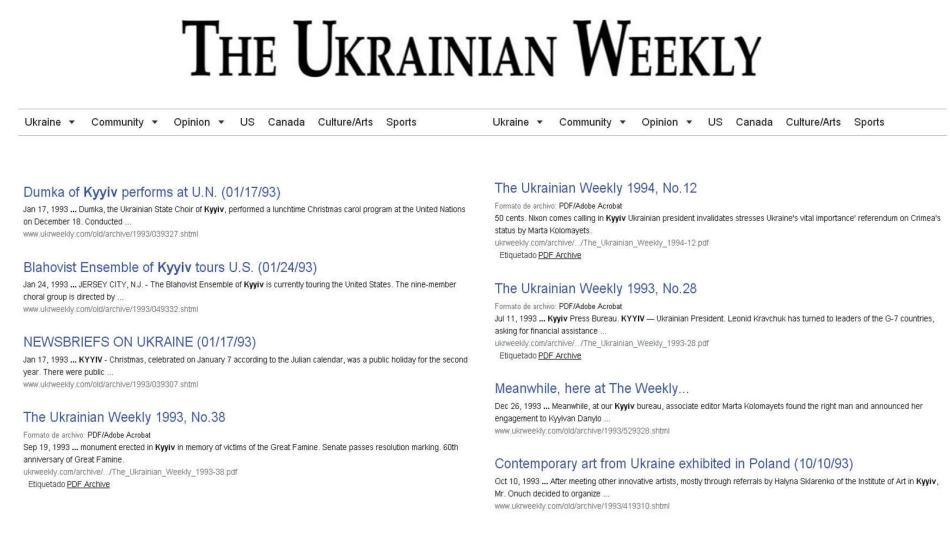 KYYIV - Ukrainian Weekly