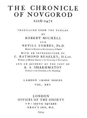 Cronica de Novgorod - ingles