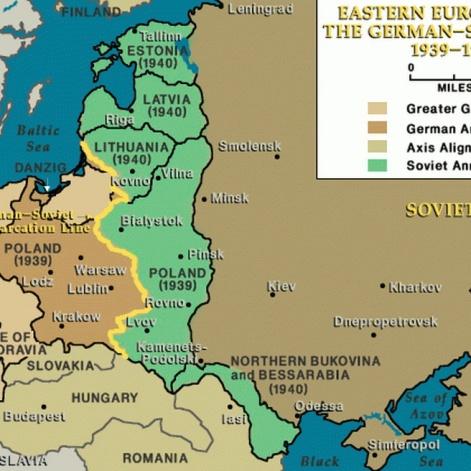 Europa del Este después de los Pactos germano-soviéticos