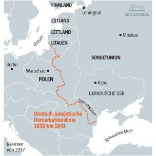 Línea de demarcación germano-soviética de 1939 a 1941
