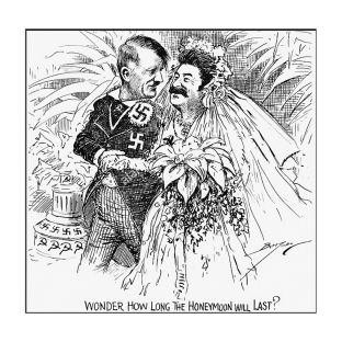 Hitler y Stalin. Pregunto cuánto tiempo va a durar la Luna de Miel?
