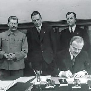 5 de octubre de 1939 - Acuerdo de Asistencia Mutua entre la URSS y Letonia, firmado por V. Mólotov y V. Munters.