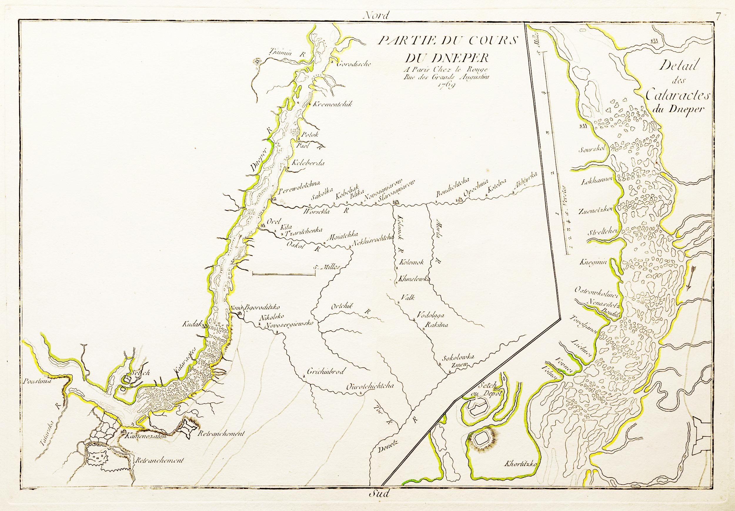 1769 - Partie du Cours du Dneper Chez le Rouge (París)